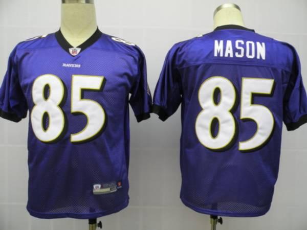 Ravens #85 Derrick Mason Purple Stitched NFL Jersey